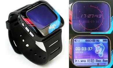Aigo F029 часы с интегрированным аудио и видео плеером