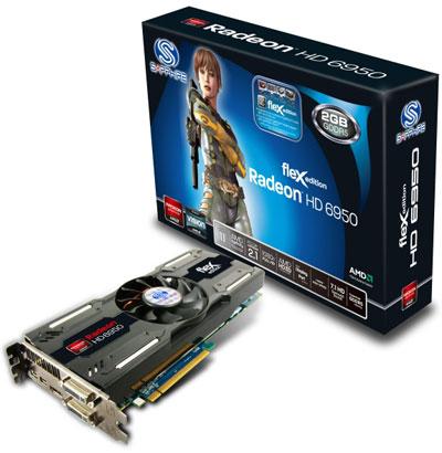 Sapphire Radeon HD 6950 FleX поддерживает легкое подключение трех мониторов