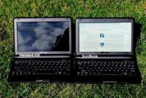 Нетбук Sunbook с дисплеем, позволяющем читать на солнце