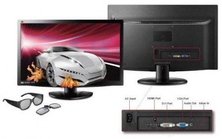 ViewSonic подготовила  новый 3D-монитор V3D231