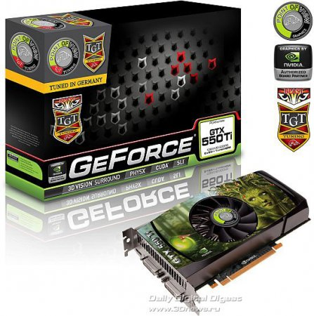 Point of View GeForce GTX 550 Ti: три версии с разгоном от TGT