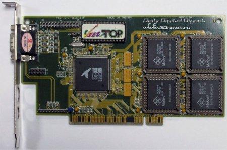 Музейный экспонат: видеокарта Tseng Labs ET6100 (1997 г.)