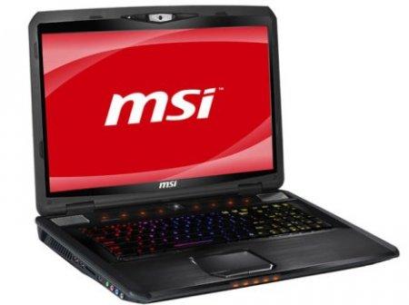 Игровой ноутбук MSI GX780 с клавиатурой SteelSeries