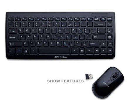 Мини-клавиатура и мышь Verbatim для портативных компьютеров