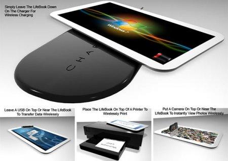 Концепт планшета Fujitsu Lifebook с 3D-сенсорами