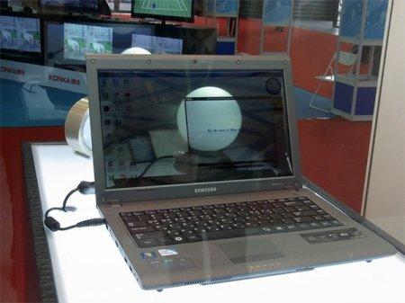 Samsung показала ноутбук с прозрачным 14 дисплеем
