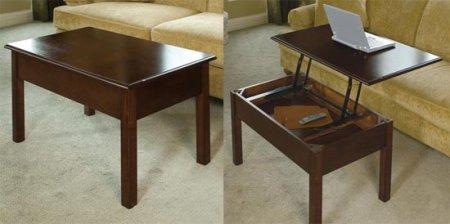 Рабочий стол из журнального столика