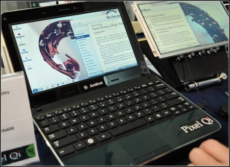 Ноутбук Sunbook для работы на солнце