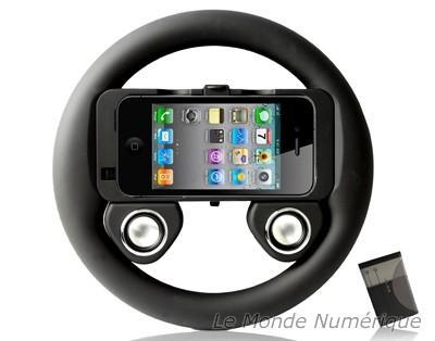 Руль с динамиками для iPhone 4