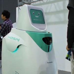 Улыбающийся робот приносит лекарство
