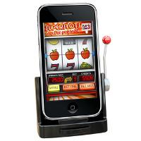 Док-станция, превращающая iPhone в однорукого бандита