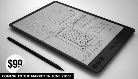 NoteSlate – планшетник с экраном из электронной бумаги