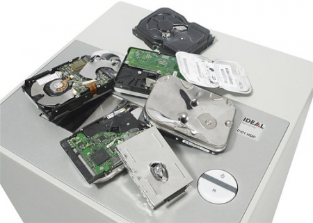 IDEAL 0101HDP – машина для уничтожения жестких дисков