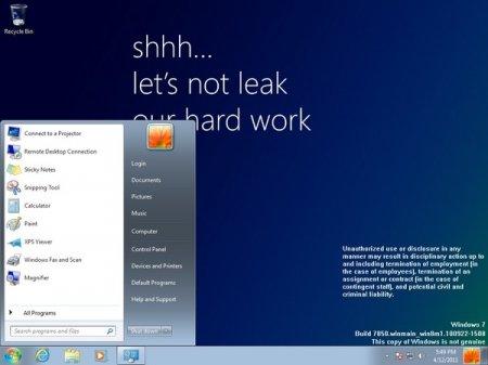 Ранняя «бета» Windows 8 утекла в Сеть