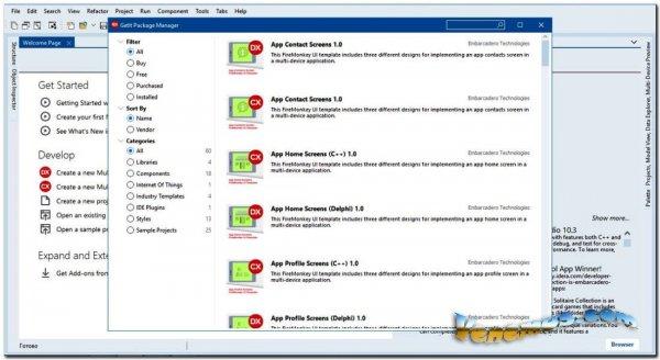 Embarcadero Rad Studio v.10.4 (+Crack)